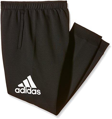 adidas Herren Essentials Logo Fleece Hose Black/White