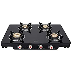 Elica Glass 4 Burner Gas Stove (PATIO ICT 469 BLK S)