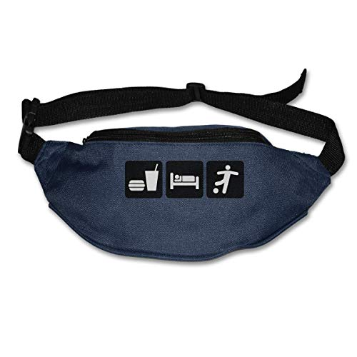 Waist Bag Fanny Pack Eat Sleep USA Madrid Soccer Pouch Running Belt Travel Pocket Outdoor Sports
