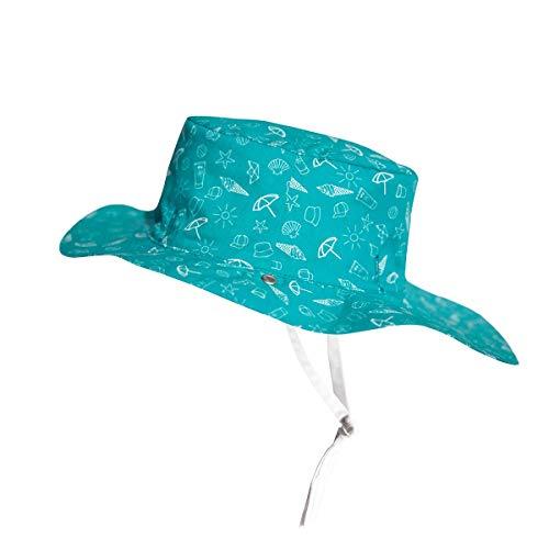 Ki ET LA Gorro Reversible 100% Anti UV Chapeau De Cowboy, Bleu/Swimming Pool, 52-54 cm Bébé garçon