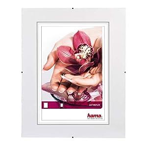 Hama Rahmenloser (Bilderrahmen Clip Fix, Anti-Reflex-Glas, 28 x 35 cm)