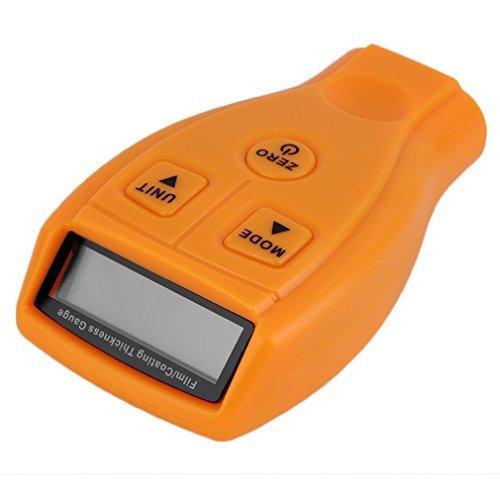 Buwico® Thickness Gauges Meter Handheld Schichtdickenmessgerät Dickenmesser Dickenmessgerät mit LCD Anzeige integrierte Messsonde Kabellos 0-1.80mm / 0-71.0mil