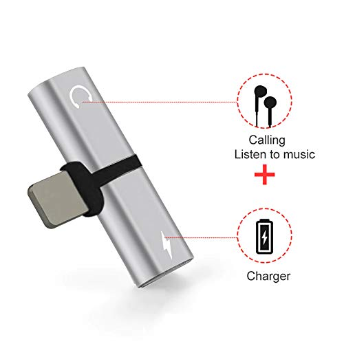 Stealkart 2 in 1 for Apple Interface Adapter Charging Audio Adapter Charger Splitter Head Phones Adapter for iPhone X 8 7 Plus