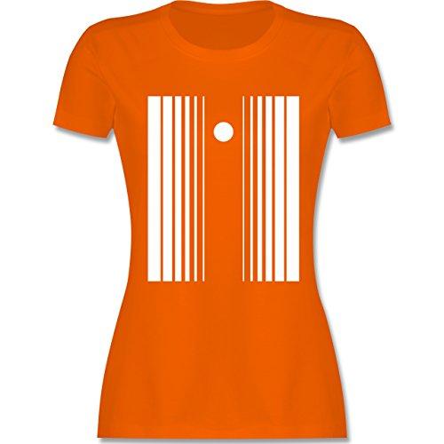 Karneval & Fasching - Doppler Effekt - S - Orange - L191 - tailliertes Premium T-Shirt mit Rundhalsausschnitt für Damen (Damen Doppler Effekt Kostüm)
