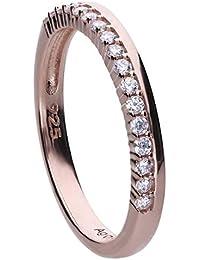 0d820b869b71 Anillo Diamonfire 6121001082170 mujer plata chapado oro rosa circonitas