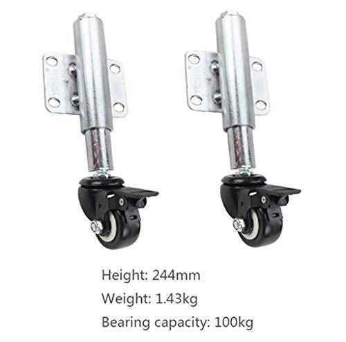 Universal wheel 30 / 60mm Schwere Versenkbare Federrollen Krankenhaus/Lager/Fabrik Tür Stille Stoßdämpfer Nachlaufrolle (2 Paket) -