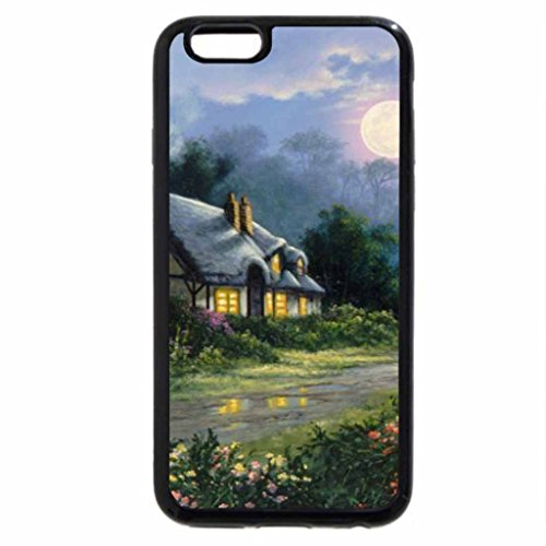 iPhone 6S / iPhone 6 Case (Black) Country Cottage .jpg