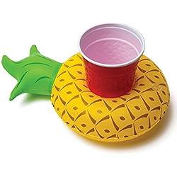 Multicolor inflable enfriador de bebida, divertido flotante soporte para bebidas verschi edenem patrón, 1*Gelb Ananas