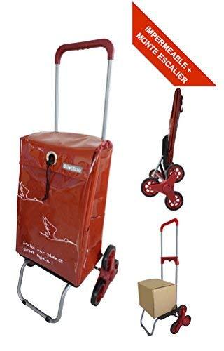 Bo Time BTBC-SP-11-PS Einkaufstrolley, wasserdicht und Treppe, 6 Räder, Teleskopgriff, Kapazität: 44 l, mehrfarbig -