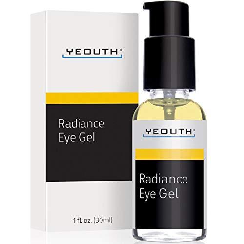 YEOUTH Eye Gel mit Hyaluronsäure - Augenringe, Augenbeutel, Anti-Falten, Krähenfüße, Rötung im Gesicht - Beste Augencreme für das Altern mit 100% Geld-zurück-Garantie, Groß Größe 30 ml
