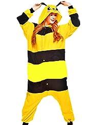 Samgu-abeille animal Pyjama Cospaly Party Fleece Costume Deguisement Adulte Unisexe