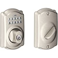 Schlage Satin Nickel Camelot Keypad Deadbolt BE365VCAM619 [DIY & Tools] by Schlage