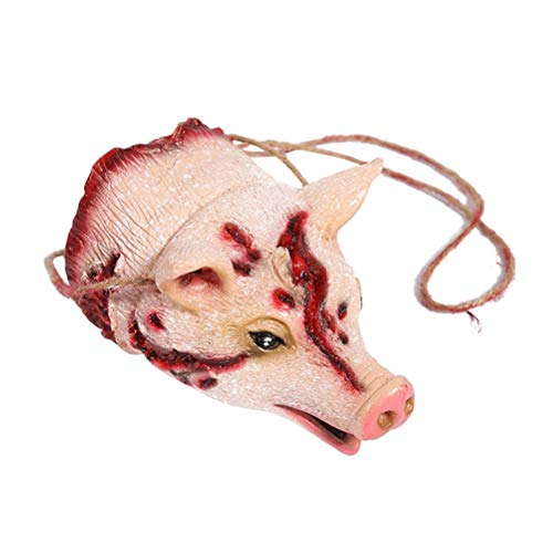 Amosfun Schwein Hängeornament Halloween Horro gruselig Dekoration Party Requisiten