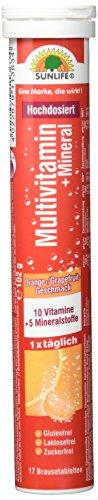Sunlife Brausetabletten 17, Multivitamin, 12er Pack (12 x 125 g)