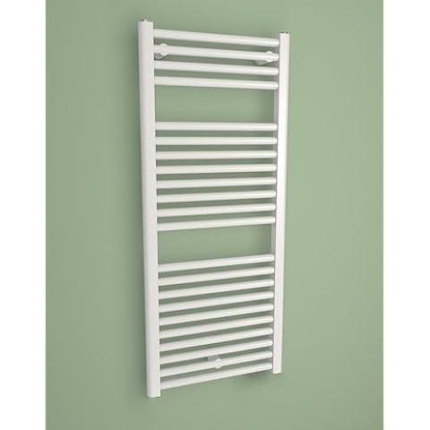 CORAL--Seca-Toallero radiador eléctrico con termostato fuerte incluye-Design-695 x 450 mm, color blanco, 298 w. Colocación mural