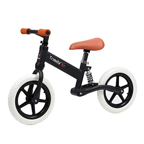 TCBIKE Verstellbare laufrad, Niedrigen Rahmen für Kleinkind 1.5 – 5 Jahre Alten Ausbildung Motorrad Mit luftfreies Reifen Lernen, fahrt Kind 12 Zoll kinderfahrrad-C