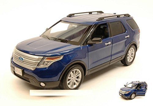MOTORMAX MTM73186B FORD EXPLORER XLT 2015 BLUE 1:18 MODELLINO DIE CAST MODEL