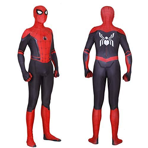 (MAKAFJ Spiderman Kostüm Held Expedition Cosplay Strumpfhosen Erwachsene Spider-Man Rollenspiele Kleidung Film Kostüm Prop,Red-M)