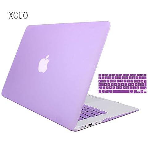 Coque Rigide MacBook Air 11, Haute qualité Transparent frosted Coque de Protection pour Macbook Air 11 pouces housse avec soft TPU Keyboard skin - Violet