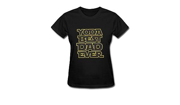 f7163ba43 LucyEve Woman's Casual Soft Round Neck Yoda Best Dad Ever T Shirt - Black -  XX-Large: Amazon.co.uk: Clothing