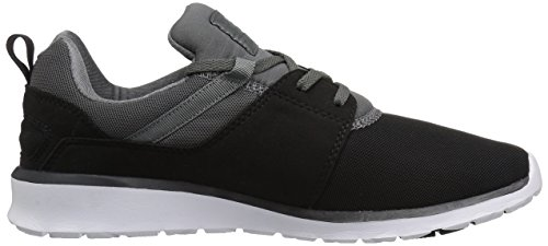 DC Heathrow Skate Shoe, Black/Grey/Green, 14 M US Black/Dk Grey