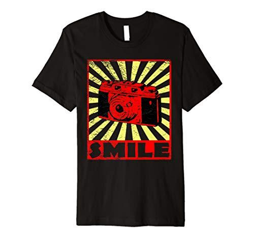 Preisvergleich Produktbild Vintage Smile Kamera T-Shirt für Fotografen