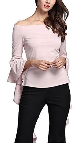 SunIfSnow - T-Shirt à manches longues - Trapèze - Uni