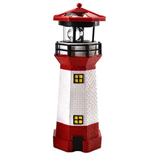 Leuchtturm (LED Solar Leuchtturm 28 cm   Garten Deko Leuchtfeuer Rot Weiß   Gartendeko Beleuchtung Mit Dämmerungssensor   Solarbeleuchtung Gartendekoration)