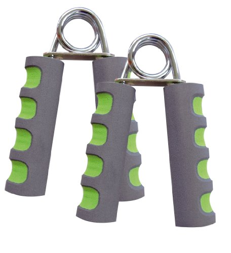 Schildkröt Fitness HANDMUSKELTRAINER 2er Set , (Chrome / grey-green), 960022