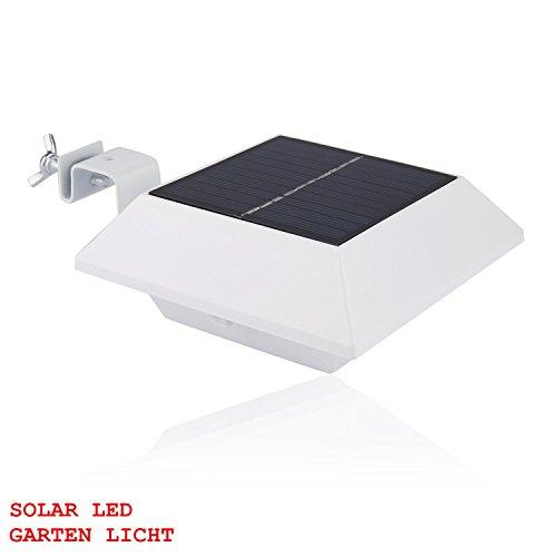 SOOJET GL23C Solarleuchte mit flachem polykristallinem Solar-Panel in Dachform mit Abstrahlung nach Unten für die Wandmontage oder an Zäunen