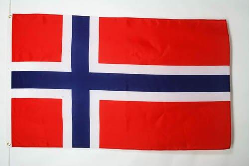 AZ FLAG Flagge NORWEGEN 90x60cm - NORWEGISCHE Fahne 60 x 90 cm - Flaggen Top Qualität