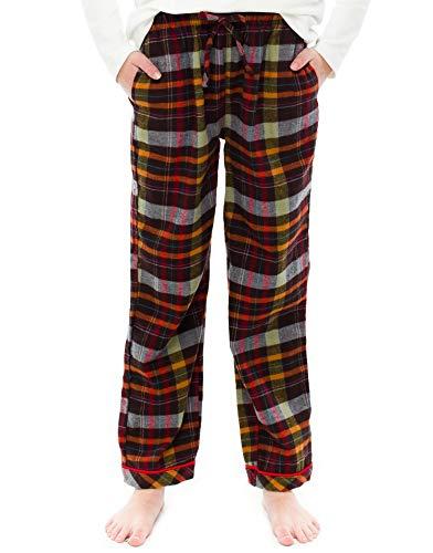 Vaenait baby TINFL Unisex Kinder Baumwolle Flannel Winter Lounge Pants FGP-12-Brown M