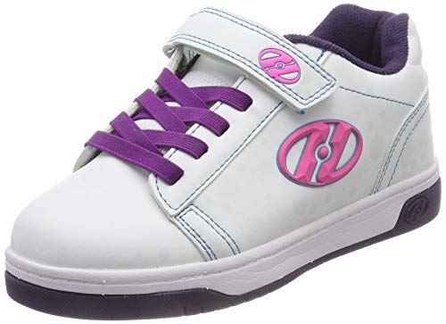 Heelys Mädchen Dual Up X2 Sneaker Weiß White/Purple/Flash, 34 ()