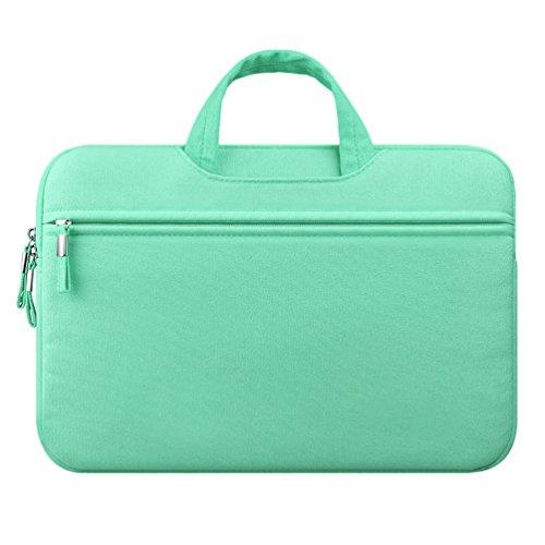 YiJee Tela Custodia Borsa Ventiquattrore Cartella Involucro Sleeve Case per Computer Portatile / Macbook Pro Air da 11-15 Pollici 12 Inch Verde