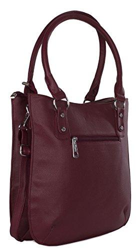 Big Handbag Shop , Damen Henkeltasche Einheitsgröße rose