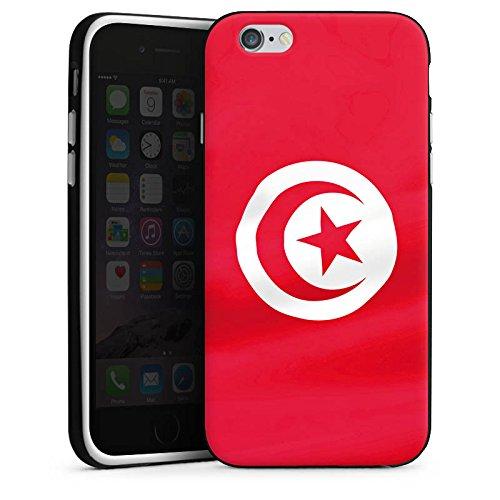 Apple iPhone 6 Housse Étui Silicone Coque Protection Tunisie Drapeau Drapeau Housse en silicone noir / blanc
