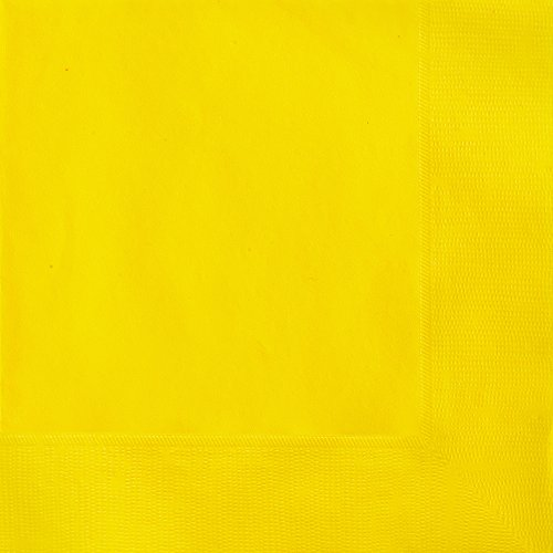 unique-party-31842-paquet-de-50-serviettes-en-papier-165-cm-jaune