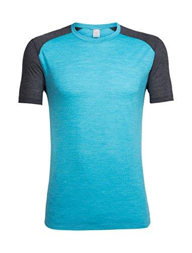 Icebreaker Herren Sphere Ss Crewe T-Shirt Mediterranean HTHR/Black HTHR