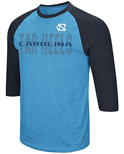 "North Carolina Tarheels NCAA ""Steal Home"" Men's Dual Blend 3/4 Sleeve T-Shirt"