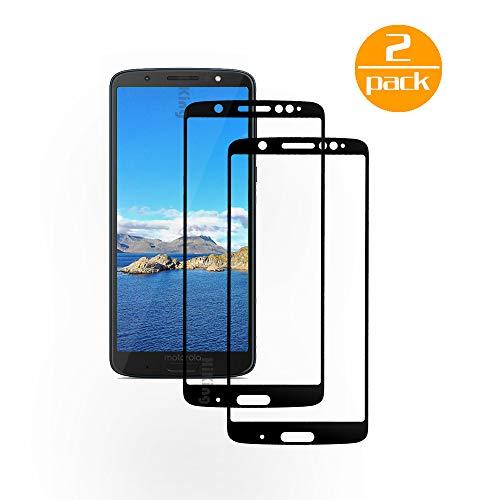 [2 Pack] Für Motorola Moto G6 Plus Panzerglas Schutzfolie (Schwarz), Bildschirmschutzglas Panzerfolie für Motorola Moto G6 Plus Schutzglas Folie [Ultra-klar] [9H Härte] [Kristallklar] [Bubble Free]