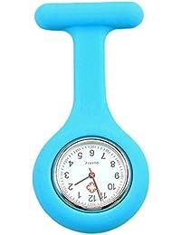 Sanwood Schwesternuhr zum Anstecken, Silikon, Uhr für Pflegepersonal