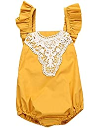 Bebé Ropa SMARTLADY Mono Amarillo para Niña Bebé