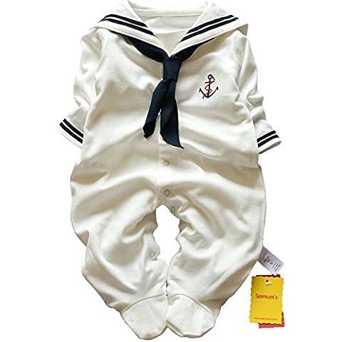 zooarts Neugeborene Baby Unisex Mädchen Jungen Sailor Strampler Foto Requisiten
