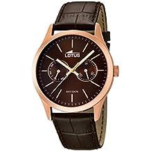 Lotus 15958/2 - Reloj de pulsera hombre, Cuero, color Marrón