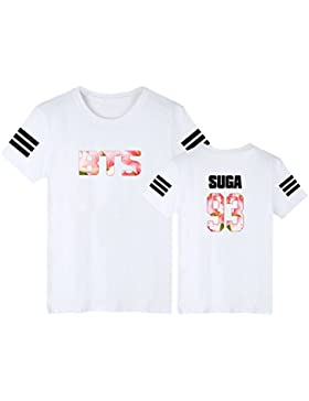 EmilyLe Impresión de Letras y Números T-Shirt para Hombres Mujer Adolescente Bangtan Boys BTS JIMIN J-Hope V Jung...