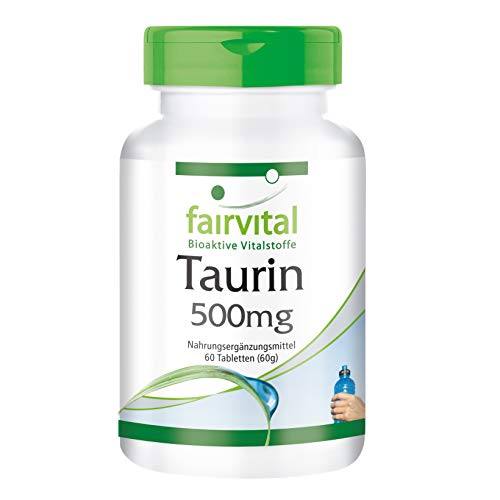 Taurin Tabletten 500mg - HOCHDOSIERT - VEGAN - 60 Tabletten