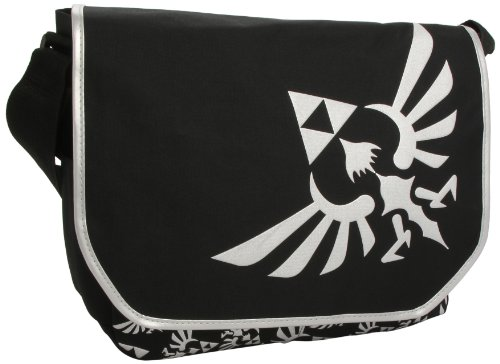 Zelda Triforce Logo Black Messen...