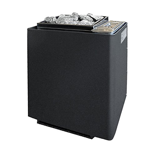 Saunaofen EOS Bi-O-Mat W 7,5 kW, anthrazit-Perleffekt inkl. Verdampfer und 15 kg Saunasteinen. Bio-Kombi-Ofen ohne Steuerung