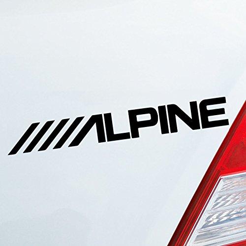 Auto Aufkleber in deiner Wunschfarbe Alpine Audio Musik Tuning Wörtersee Dub OEM 15x2cm Autoaufkleber Sticker Folie (Dub Car Audio)