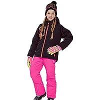 Gski Chica Chaqueta Y Pantalones De Esquí Resistente Al Viento, Templado, Ventilación Esquí/Deportes Múltiples/Deportes De Nieve Poliéster, Prendas Ropa De Esquí,Invierno,Pink,116/122